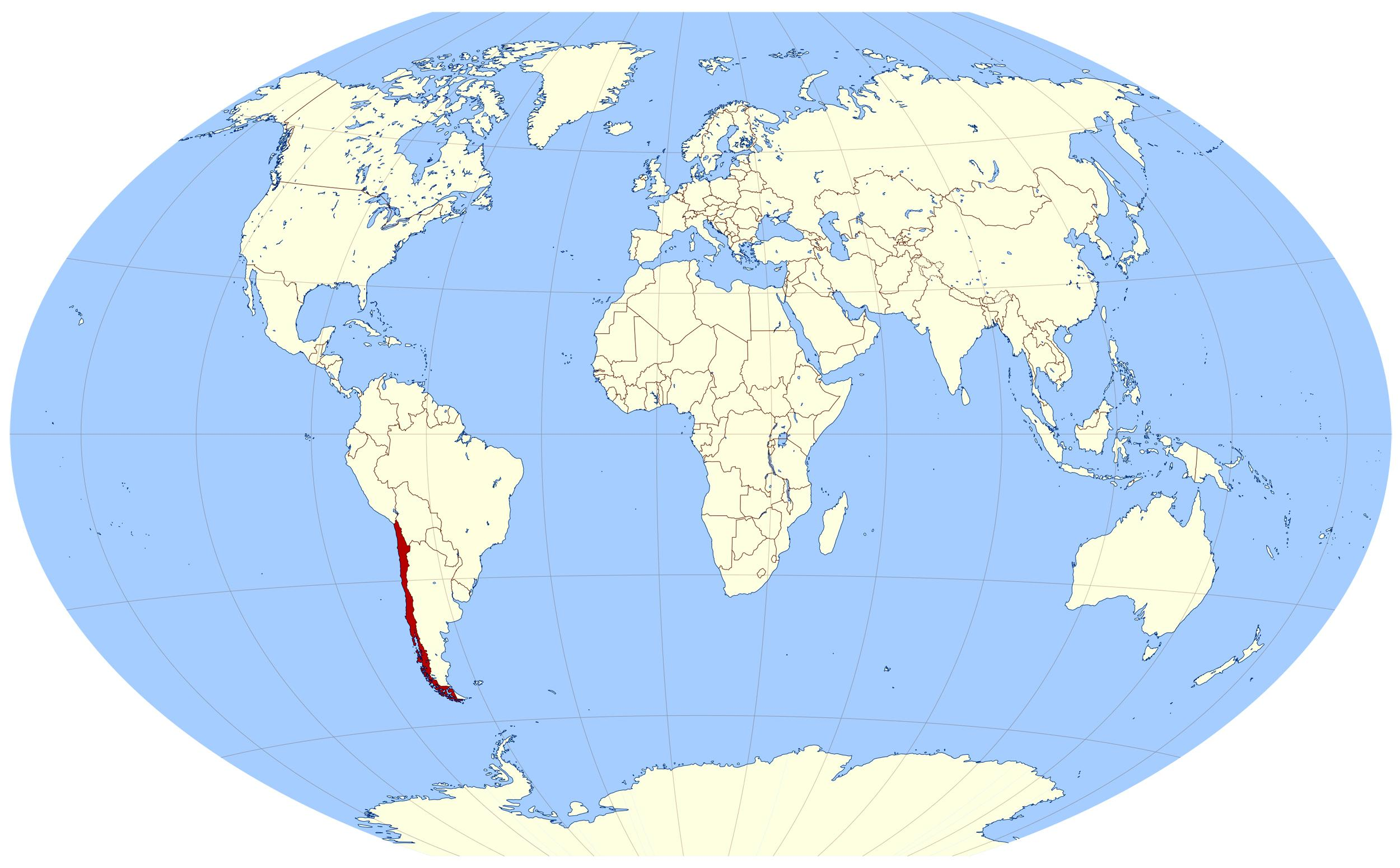 Chile World Map on