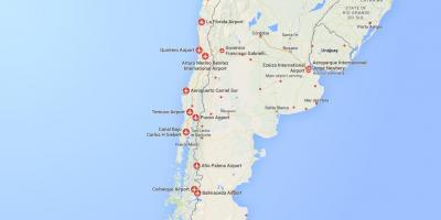 Karte Anzeigen.Chile Flughäfen Karte Karte Der Flughäfen In Chile South America